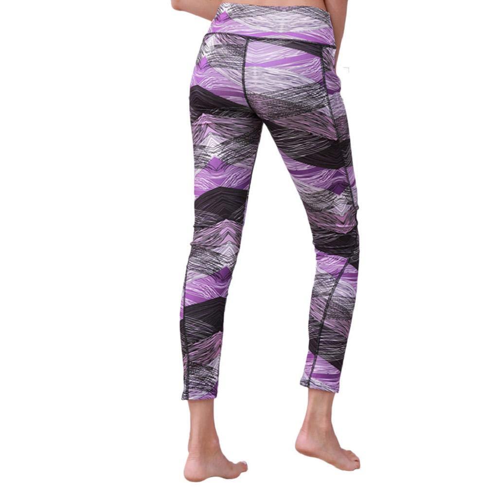 QUICKLYLY Yoga Mallas Leggins Pantalones Mujer,Mujeres Yoga ...