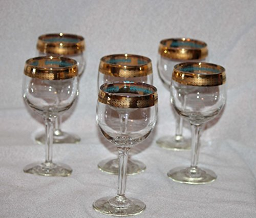 Tiffin Style Gold Rim Crystal Stemware- Champagne Glasses Set of (Stemware Champagne)