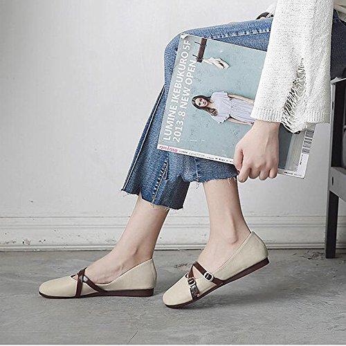 BOTAS HAIZHEN Ladies Girls Botines dama zapatos PU verano caída Comfort planos plana tacón redonda dedo del pie para la oficina y la carrera Para 18-40 años ...