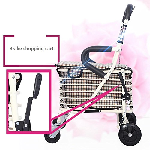 Amazon.com: LUCKYYAN Folding Shopping Cart with Chair, 4 Wheel Walker for Elderly: Industrial & Scientific