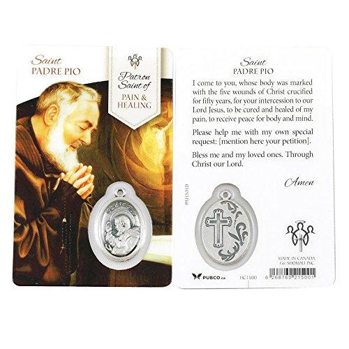 - Padre Pio Healing Saint Prayer Card