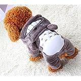 Xiaoyu Puppy Dog Pet Clothes Hoodie Warm Sweater Shirt Puppy Autumn Winter Coat Doggy Fashion Jumpsuit Apparel, Grey, XXL