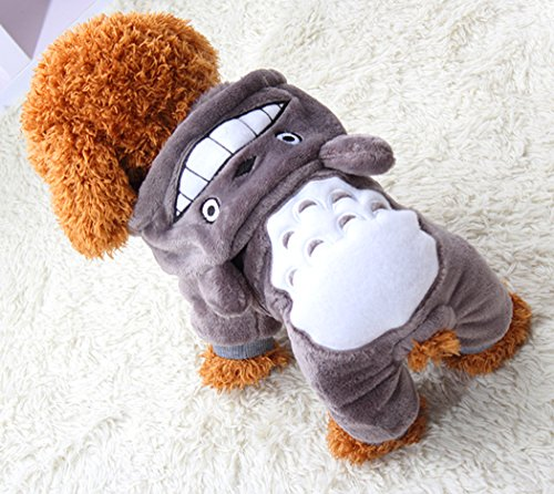 Xiaoyu Puppy Dog Pet Clothes Hoodie Warm Sweater Shirt Puppy Autumn Winter Coat Doggy Fashion Jumpsuit Apparel, Grey, -