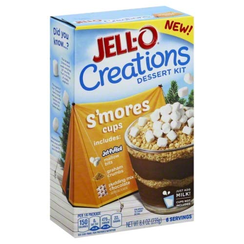 JELL-O Creations Dessert Kit, S'mores Cups, 8.4 Ounce