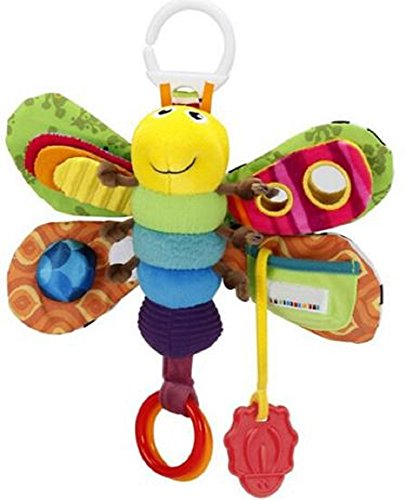Hanging Baby Butterfly Mobile for Baby Bed or Stroller with Rattle and Teether