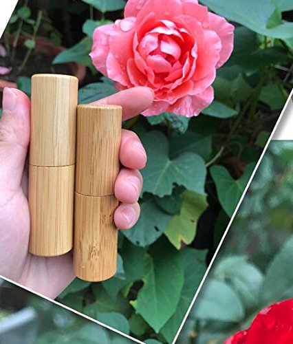 2PCS 4g Empty Bamboo DIY Lipstick Lip Balm Gloss Tubes Containers Crayon  Chapstick Deodorant Tube Pipe Bottle Case Cosmetic Holder For Women Girls