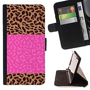 Momo Phone Case / Flip Funda de Cuero Case Cover - Jolt eléctrico Rayo Rosa del texto - Samsung Galaxy S6 Edge Plus / S6 Edge+ G928