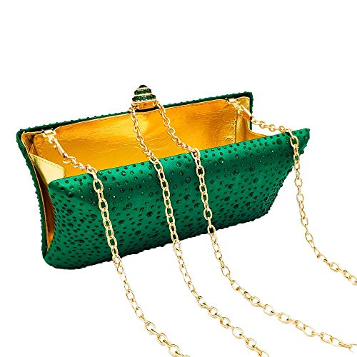 Bag Crystal Occasioni Evening colore Honor Maybesky Borse Women Verde Oro speciali Girl Clutch Lady UHEwn5Rq