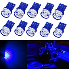 This listing features 10 pieces super bright T10 wedge ultra blue high power 5630 SMD led bulbs especially designed for auto cars' license plate lights, interior map lights, dome lights, interior door lights, step courtesy lights, dashboard ...