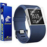 ArmorSuit MilitaryShield - Fitbit Surge Fitness Superwatch Screen Protector (Full Screen Coverage) [2-Pack] Anti-Bubble and Extream Clarity HD Shield with Lifetime Replacements