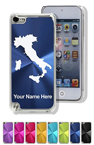 Case Compatible with iPod Touch 5th/6th Gen, Country Silhouette Italy, Personalized Engraving Included