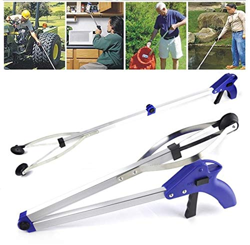 Garment Clips - Foldable Pick Up Garbage Gripper Long Arm Helping Hand Gripping Bending Save Tongs Picking Rubbish - Tool Tools Tongs Garment Clips Xtool Odometer Gripper Fish Garbage Stic