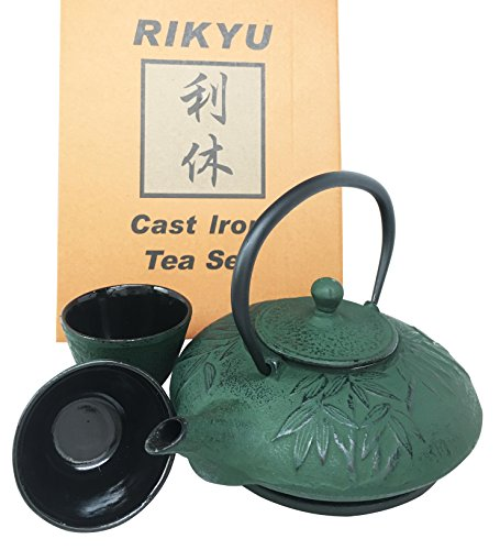 japanese cast iron teapot set - 6