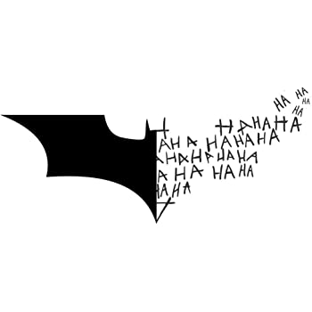 Amazon Batman Logo Symbol Joker Laugh Ha Ha Ha Black 6 Inch