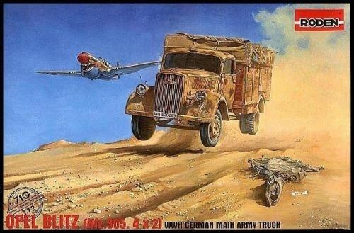 OPEL BLITZ (KFZ.305, 4X2) GERMAN ARMY TRUCK WWII 1/72 RODEN 710