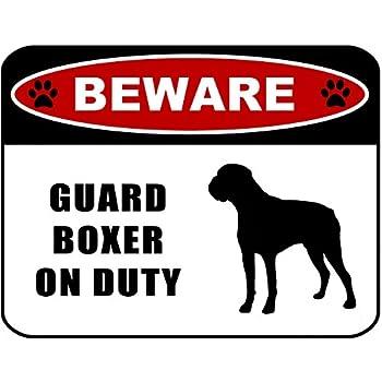 Amazon.com: Cuidado con guardia Boxer de servicio (Silueta ...