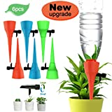 Serendipper Plant Watering Spikes, Automatic Irrigation Spikes with Adjustable Water Flow, Self Drip Irrigation Plant Waterer for Indoor Outdoor, Automatic Plant Watering Spikes for Potted Plants