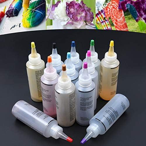 Reuvv 12 Piezas Tie Dye Kit no tóxico DIY Ropa Graffiti Polvo ...