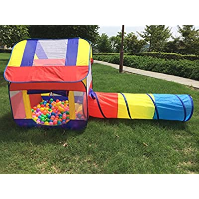 Hi Suyi Pop up Play Tents Crawling Tunnel Tube Games Toy Indoor Outdoor for Kids Baby Toddler: Toys & Games