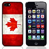 BZ Gadget Vintage Canadian Flag of Canada Design Hard Case Cover for Apple iPhone 5 & 5S