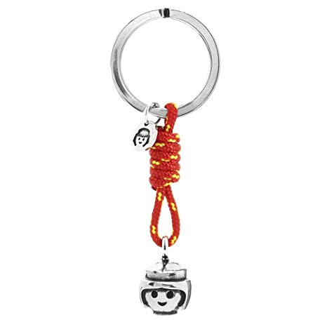 Llavero de Paracord Playmobil Smile Cabeza Chica (Producto Oficial)