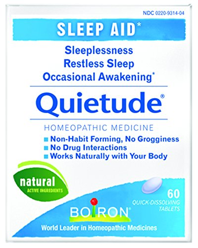 Nux Vomica (Boiron Quietude, 60 Tablets Homeopathic Medicine for Sleep Aid)