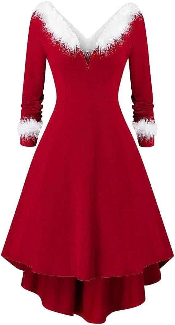 ღLILICATღ Disfraz Navidad de Cuello en V, Disfraz de Navidad ...