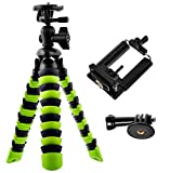 Photo : Bontend Flexible Tripod with Iphone and Smartphone Holder - A Light Camera Stand for DSLR, SLR - Free Gopro Mount