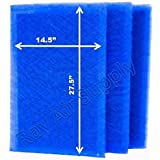 MicroPower Guard Replacement Filter Pads 16x30 Refills (3 Pack) BLUE