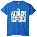 NCAA Kentucky Wildcats Basketball Attack Short Sleeve Tee, Small, Royal