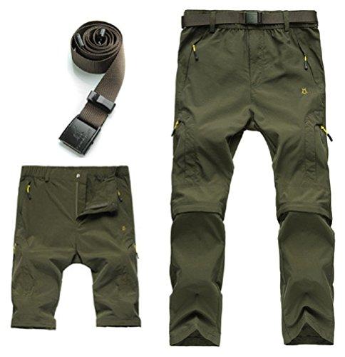 zip off cargo pants men - 5