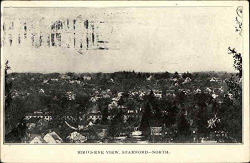 View Postcard Stamp - Bird's Eye View of Town, North Stamford, Connecticut Original Vintage Postcard