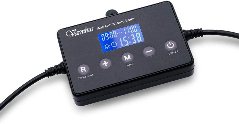 VARMHUS, dimmer per illuminazione acquario a un canale, modulatore LCD digitale timer per luci acquari