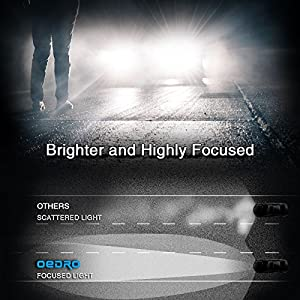 oEdRo H11 LED Headlight Bulb Conversion Kit - 4-side Patch LED Headlights H11 H9 H8, Upgraded CSP LED Chips, 8000Lm Super Bright H11 Led, 6000K White, 50000 Hours Life, 2-Year Warranty