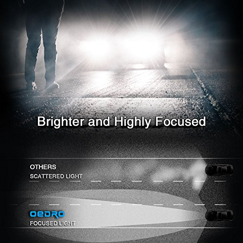oEdRo High Power 880 881 893 LED Fog Light Bulbs for DRL or Fog Lights, Xenon White 8,000Lm Fog Light LED Replace for Halogen HID Bulb Unique 4-side Patch 50000 Hours Heavy Duty 2-Year Warranty by oEdRo (Image #2)