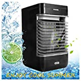 Air Cooler, Portable Home Office Air Conditioner/Humidifier / Purifier/Cooling Flow Filter (Black)