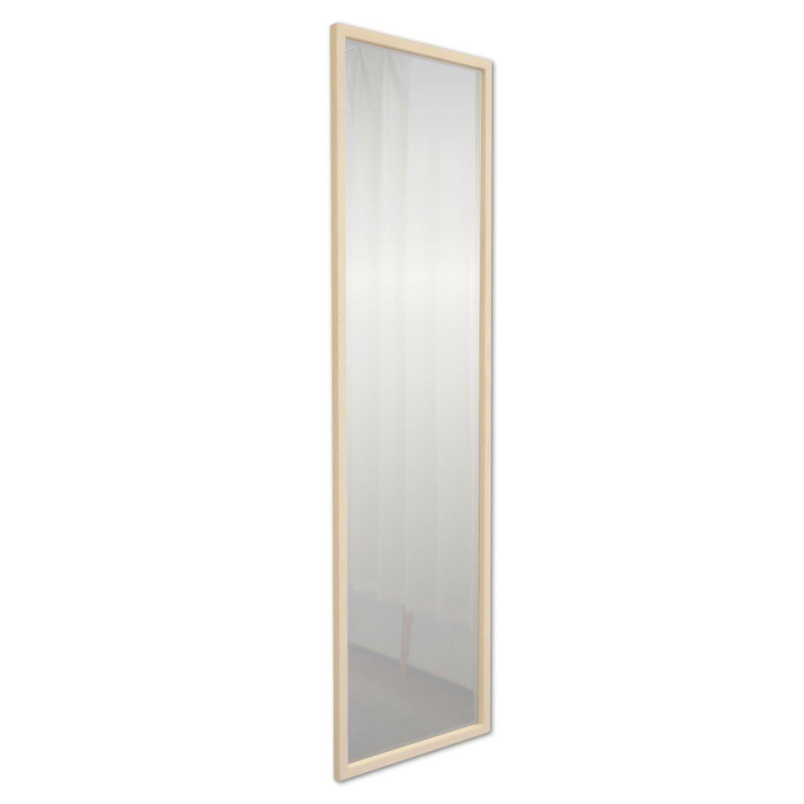 NaturalHouse 日本製 ミラー 鏡 アンティーク ウォールミラー 木製 フレーム ( 幅 33.5 奥行 2 高さ 120 cm ) 飛散防止 ( WH ホワイト ) B074W4ZD9J WH ホワイト WH ホワイト