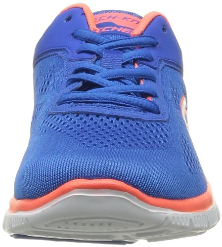 Skechers Sneaker Fashion Orange Lace Your Women's Blue Appeal Up Love Flex Style 1xw4O1Apaq