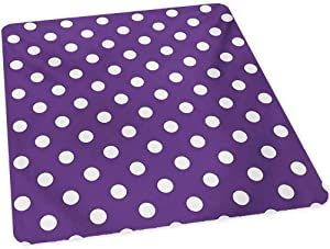 """Eggplant Hard Floor Chair Mat, Polish White Orderly Polka Dots and Purple Background with Traditional Pattern, 30"""" x 47"""" Office Chair mat for Carpet, Purple White"""