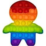 Brinquedo Pop It Fidget Colorido Anti-Stress Sensorial Importado Entrega Imediata (Boneco)