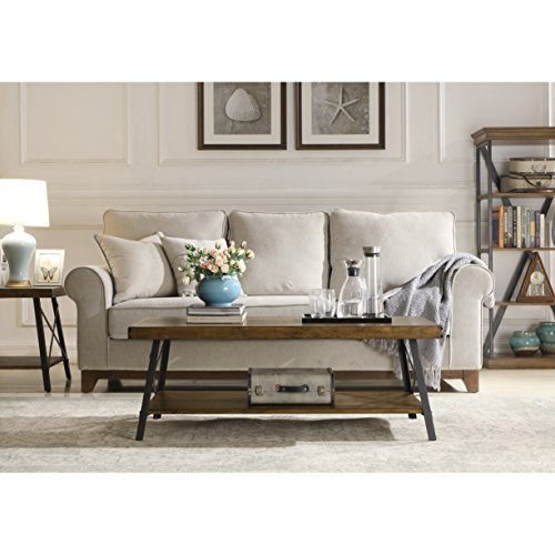 home, kitchen, furniture, living room furniture, tables,  coffee tables 12 on sale Emerald Home Chandler Rustic Industrial Solid Wood and deals
