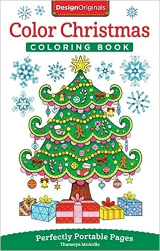 Amazon Color Christmas Coloring Book Perfectly Portable Pages On The Go Design Originals Extra Thick High Quality Perforated