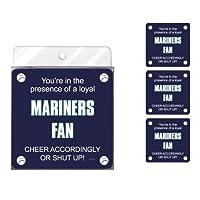 Tree-Free Greetings NC38101 Mariners Baseball Fan 4-Pack Artful Coaster Set