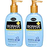 Cheap ShiKai All Natural Borage Dry Skin Therapy Pediatric Lotion For Baby, Kids and Children For Eczema, Dry Skin & Skin Problems With Organic Aloe Vera, Jojoba, Vitamin E & Shea Butter, 8 oz. (Pack of 2)