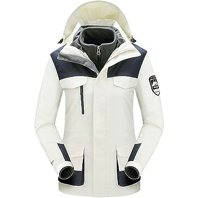 Zilee Chaqueta de Esquí al Aire Libre Caliente de Las Mujeres - Windbreaker Transpirable Abrigo de