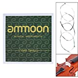 ammoon Full Set Violin Strings Size 1/2 & 1/4 Violin Strings Steel Strings G D A and E Strings