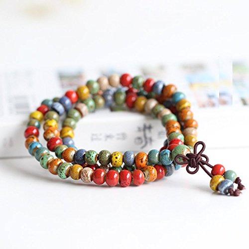 Ethnic colorful ceramic beads bracelet