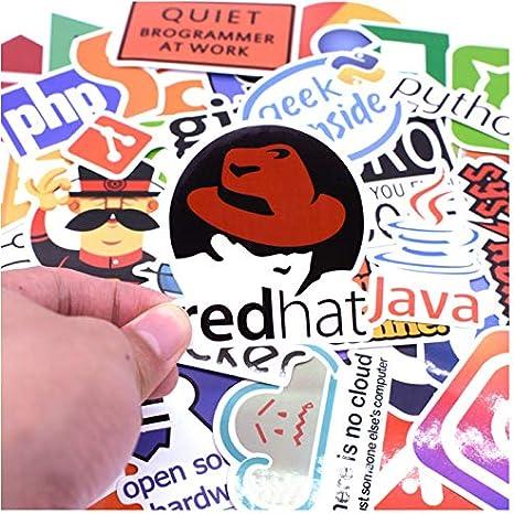 50pcs/pack Programming Language Sticker Internet Java JS Php Html ...
