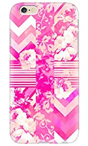 """Simply Case Designs Girly Neon Pink Floral Stripes Chevron Pattern Design PC Material Hard Case for iphone 6 4.7"""""""