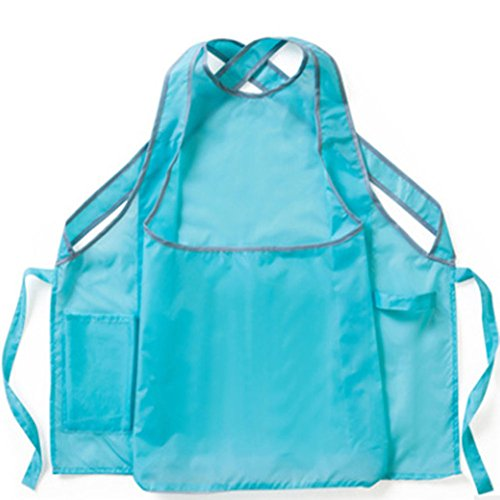 - Waterproof Kangaroo Laundry Apron Kitchen Apron with Max Storage Pockets and Adjustable Ties Best Helper for Housewife & Mother& Laundry Owner(HSW-116) (Blue)